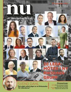 Framsida NU nr 38 2018 ett kollage av Liberalernas riksdagsledamöter